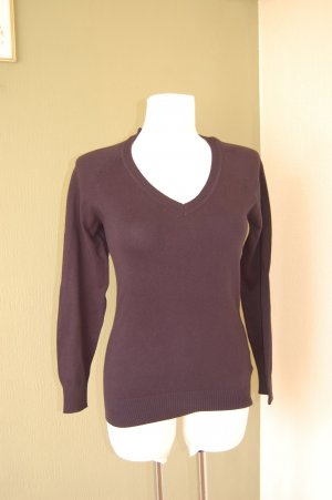 Avanti V-Neck Sweater dark blue-black brown cotton