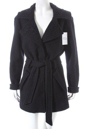 Avellini Wolljacke schwarz extravaganter Stil