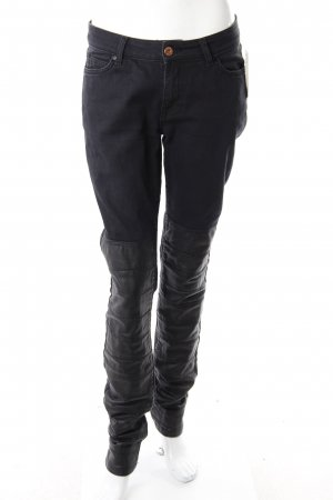 Avelon jeans black with leather insert