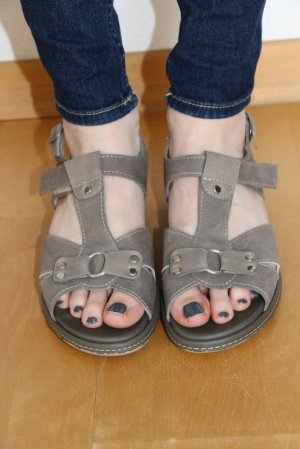Comfort Sandals light grey leather