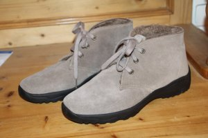 Ankle Boots grey brown suede