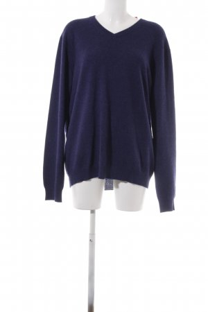 Avenue Foch Pullover in cashmere blu scuro stile casual