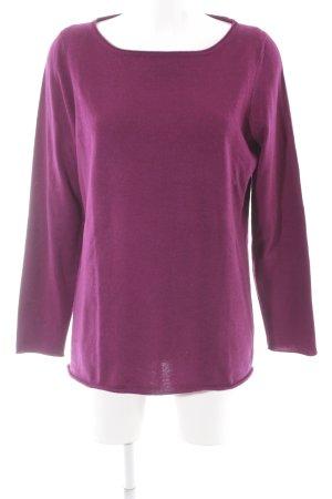 Avenue Foch Cashmerepullover purpur-graulila meliert Casual-Look