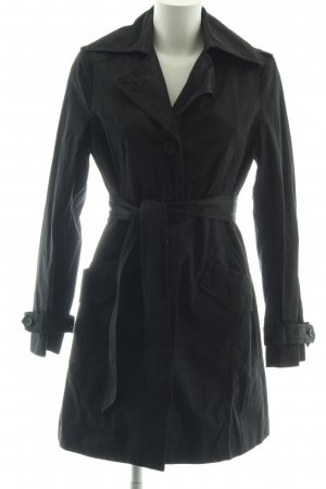 Avenue Foch Trenchcoat schwarz Business-Look