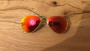 Aviator Sonnenbrille Ray Ban 3025 orange verspiegelt, Rahmen Gold