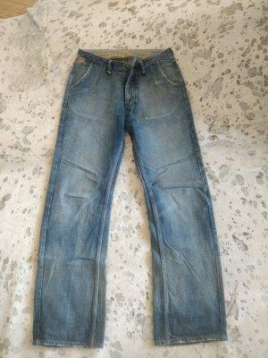 Pantalón abombado azul