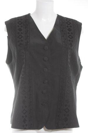 Avitano Waistcoat black weave pattern elegant