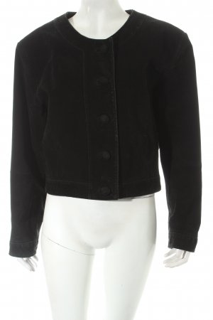 Avitano Leather Jacket black biker look