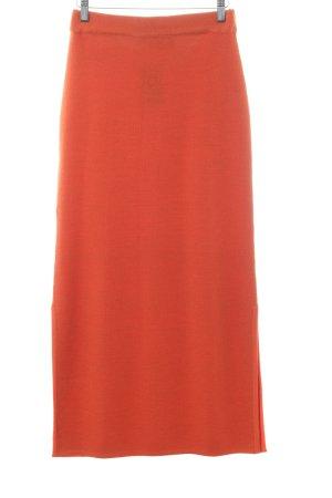 Avitano Wool Skirt light orange casual look