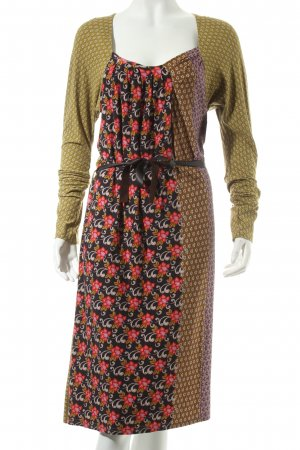 Avoca Midi Dress mixed pattern casual look