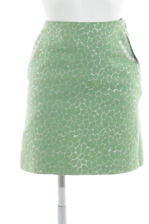 Avoca Mini-jupe blanc-vert motif de fleur style décontracté