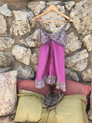 Avoca Vestido línea A multicolor tejido mezclado