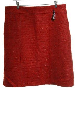 Avoca Wollen rok rood-leigrijs gestippeld casual uitstraling