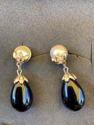 Avon Pendiente negro-color oro