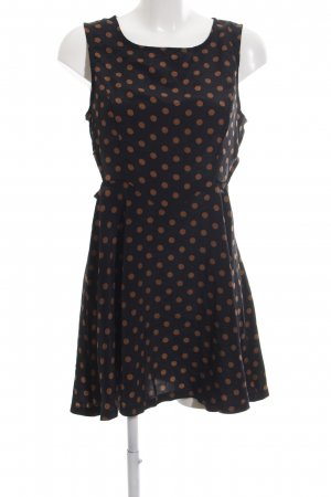 AX Mini Dress black spot pattern casual look