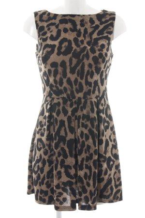 AX Paris A-Linien Kleid braun-schwarz Allover-Druck Casual-Look