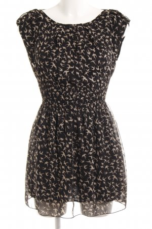 AX Paris A Line Dress black-cream animal pattern casual look