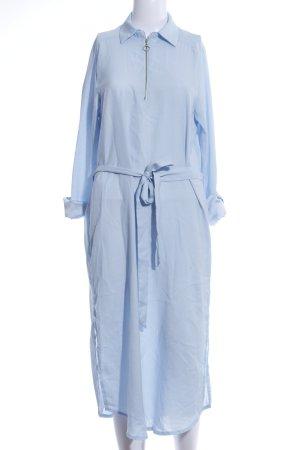 AX Paris Robe chemisier bleu style décontracté