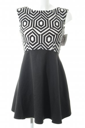 AX Paris Cocktail Dress black-white abstract pattern