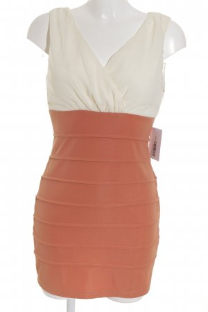AX Paris Sheath Dress apricot-cream striped pattern elegant