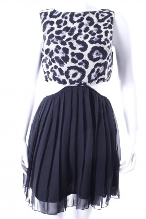 AX Paris Kleid schwarz-weiß mit Cut-Outs