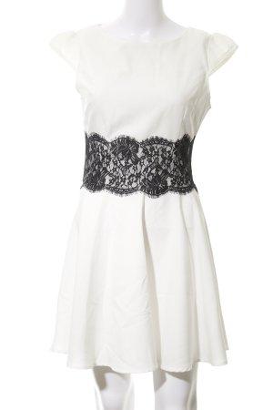 AX Paris Mini vestido crema-negro Paris-Look