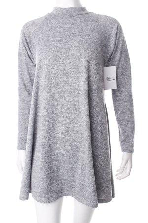 AX Paris Minikleid grau meliert schlichter Stil