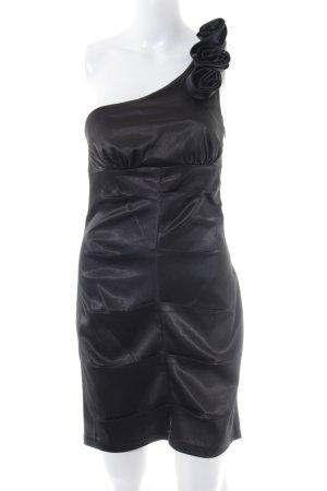 AX Paris Vestido de un hombro negro elegante