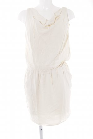 Axara Vestido línea A crema elegante