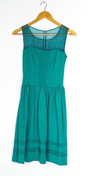 Axara Robe à manches courtes turquoise-vert clair
