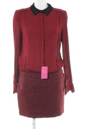 Axara Abito blusa rosso scuro stile casual