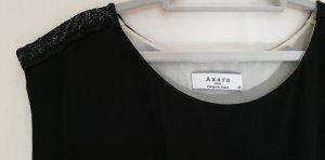 Axara Robe courte noir-crème viscose