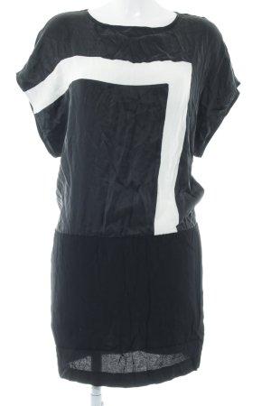 Axara Mini Abito nero-bianco motivo a righe elegante
