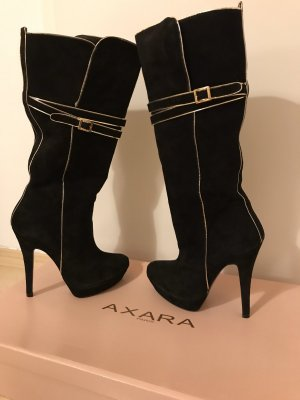 Axara High Heel Boots black-silver-colored