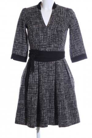 Axara Knitted Dress black-white flecked elegant
