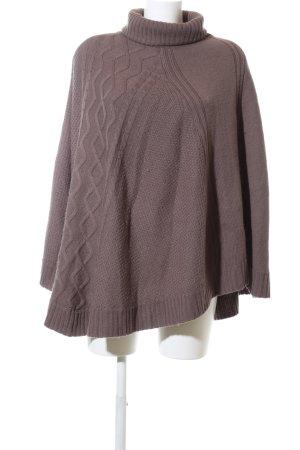 Axara Poncho en tricot bronze style décontracté