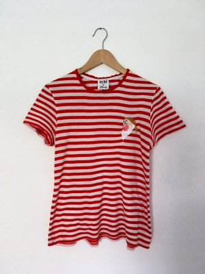 0039 Italy T-Shirt red-white cotton