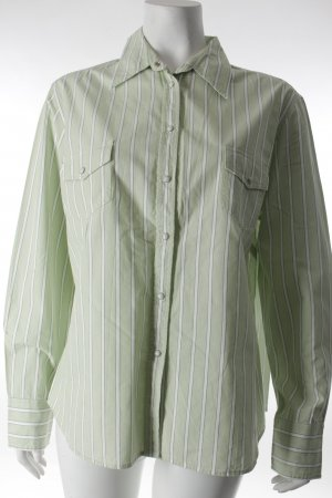 Aygill's Long Sleeve Shirt white-pale green striped pattern casual look