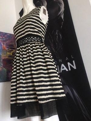 Azzaro Babydoll-jurk zwart-wit