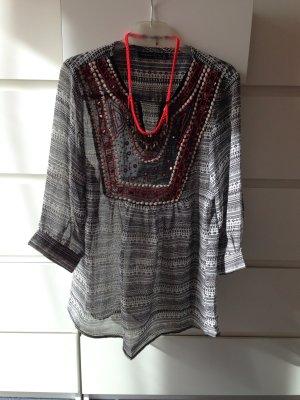 Azteken Chiffon Shirt hippie NEU