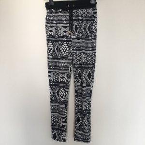 Azteken Hose in schwarz weiß