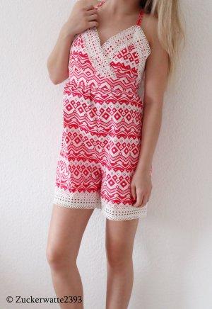 Azteken Jumpsuit Rosa/Pink Cross Back 34/XS