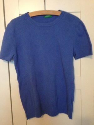 Azurblau blauer Pullover Strick