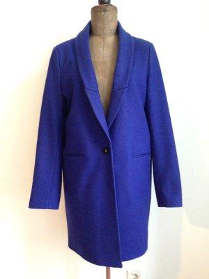 Azurblauer Mantel mit Wolle von Maison Scotch, Gr. 40