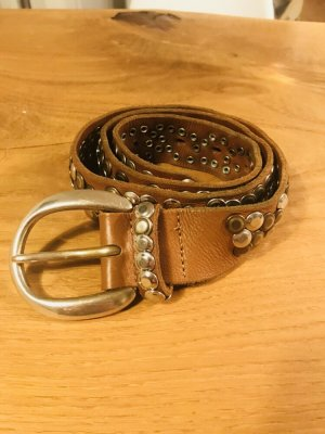 B Belt Studded Belt brown-silver-colored