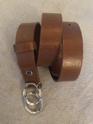 B Belt Cinturón de cuero marrón-coñac Cuero