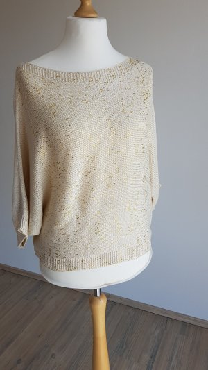 Best Connections Short Sleeve Sweater gold-colored-oatmeal