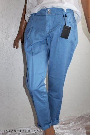 Best Connections Peg Top Trousers steel blue cotton