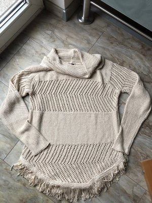 B.C. Best Connections Rollkragen Strickpullover Gr.40/42 Franseln Wollweiß