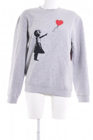 B&C collection Sweatshirt hellgrau platzierter Druck Casual-Look